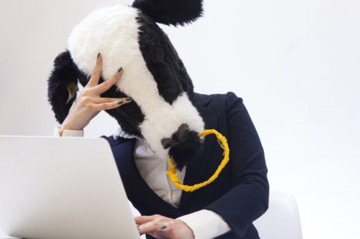 悩むメス牛